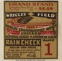"""Chicago Cubs Wrigley Field 1935 World Series Ticket Stub 24"""" Vinyl Wall Graphic"""