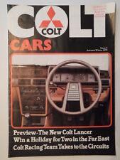 MITSUBISHI COLT CARS orig 1979 UK Mkt Publicity Brochure - Sapporo Lancer Racing