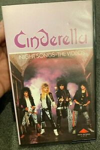 Cinderella (band) : Night Songs - The Videos VHS VIDEO TAPE (rock / metal music)