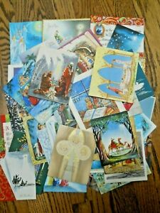 Lot of 50+ Religious Christmas Cards / Signed