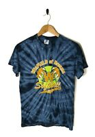 VINTAGE 90s Mens Small Top Tye Die T-shirt Tee Graphic Softball Colourful USA