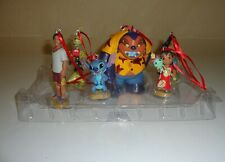 New Disney Lilo & Stitch Christmas Ornament 6pc Scrump Jumba Pleakley Nana David
