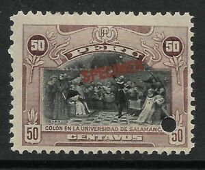 STAMPS-PERU. 1918. 50c Violet Brown ABNCo Specimen. SG: 414a var. Mint HInged