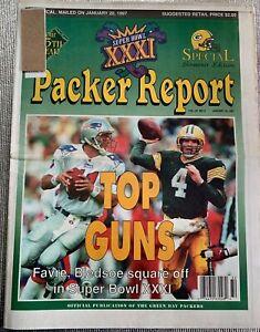 Green Bay Packers 1997 PACKER REPORT - Brett Favre Top Gun - Super Bowl