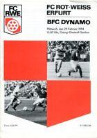 Programmheft, FC RWE, FC Rot-Weiss Erfurt - BFC Dynamo 1984 /15