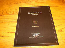 BRANDON LEE son of Bruce Lee 1965-1993 tribute ad from cast & crew of 'The Crow'