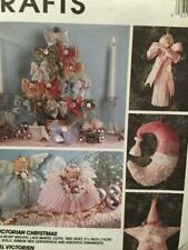 McCalls Sewing Pattern 7346 Victorian Christmas Wreath Angel Ornaments Uncut