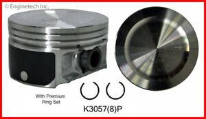 Engine Piston Kit ENGINETECH, INC. K3057(8)PSTD