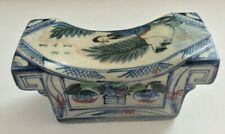 ANTIQUE 1800'S MARKED CHINESE WU-CAI PORCELAIN PILLOW
