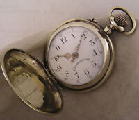 Great Hunter Case Chronometre Systeme Roskopf 1909 Swiss Pocket Watch Perfect