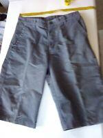 Mens Kathmandu Casual Shorts, Grey, Cotton /Poly, Size S, waist laying flat 38cm