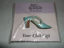 Nip Willitts Raine Just The Right Shoe Club Pin Back The Perfect Gift Turquiose