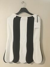 IN HAND NWT Victoria Beckham Women's Black And White Stripe Scallop Midi Skirt 2