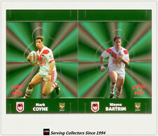 1997 Dynamic Rugby League POP-UP CARDS Team Sets-ST.GEORGE DRAGONS(2)