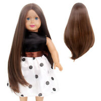 17/'/' Doll Wig Fit 18in American Girl Doll AG OG Gotz Journey Girl Dark Brown Hot