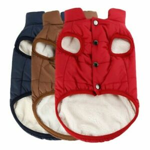 Winter Pet Dog Vest Jacket Warmer Sweater Coat Puppy Thick Fleece Jumper Outwear