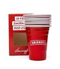 Smirnoff Plastic Cups 20 Pack 400ml Red Dinner Party Barbeque BBQ Home Bar Pub