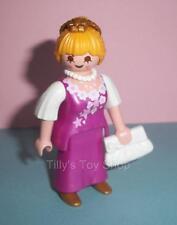 Playmobil-Victoriano Dollshouse Figura-Dama con un collar y bolsa de Blanco-Nuevo