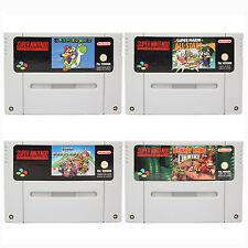 SNES Super Mario Kart + World + All Stars + Donkey Kong Spiel für Super Nintendo