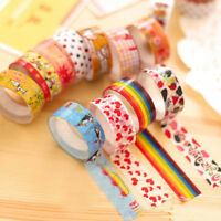 10Pc Washi Tape Set Cartoon DIY Decorative Paper Adhesive Sticker Scrapbook Tape