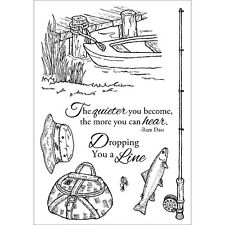 """Inky Antics Clear Stamp Set 4""""X6""""-Fishing Favorites"""