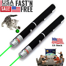2Pcs Aaa Green Laser Pointer Pen Visible Beam Light Mini Pet Cat Toy Torch Lazer