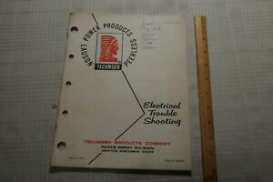Tecumseh (Lauson) Electrical Trouble Shooting Manual 693505