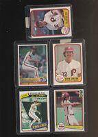 Steve Carlton Phillies Baseball Card Lot Donruss Fleer Topps Good Cards