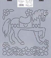 Quilting Stencil Template - LARGE Pretty Pony Quilt Design - Made in the US