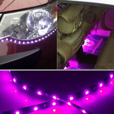 2X High Power Flexible Light 120cm 2835 LED Car Lighting Strip Waterproof Purple