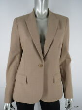 THEORY Tan Camel Wool Blend Blazer 12 L Career Work EUC USA