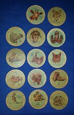 Rare Antique 1918 Animal Heroes Dixie's Circus HERSHEY Ice cream Lids - 1 or all