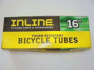 """~ New INLINE Kenda 16"""" x 2.125"""" Thorn Resistant Bicycle Inner Tube Kids Bike ~"""