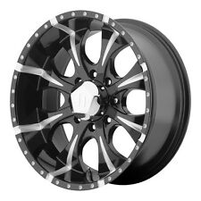 "4-NEW Helo HE791 Maxx 16x8 8x165.1/8x6.5"" +0mm Black/Milled Wheels Rims"