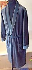 "vintage St Michael 1970's grey velvety velour dressing gown/ robe M 40-42"" chest"