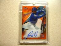 2020 TOPPS FINEAT AUTO ROBEL GARCIA ORANGE WAVE REFRACTOR /25 RARE CHICAGO CUBS