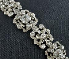 Fine Antique Edwardian Silver Paste Bracelet / Austro - Hungarian