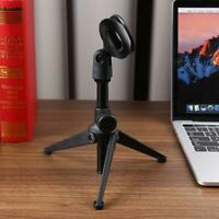 Adjustable Capacitive Audio Microphone Stand Foldable Tripod MIC Holder w/ Clip