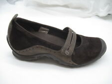 Merrell 7M Plaza Bandeau chocolate brown Mary Janes womens ladies flats loafers