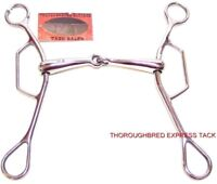 """D.A. Brand 7"""" Mouth Stainless Steel Long Shank Gag Bit Horse Tack Equine"""