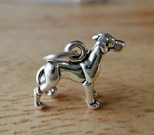 Sterling Silver 3D Tiny 13x15mm Detailed Great Dane Dog Charm