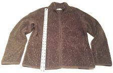 Orvis Full Zip Up Outdoors Green Fleece Sweater Mens Large