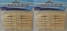 Large STURDY Wooden Clothes Pins 64-ct. Strong 7-Coil Spring Arts and Crafts