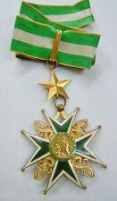 Croix Commandeur ORDRE MILITAIRE HOSPITALIER SAINT LAZARE JERUSALEM Bronze