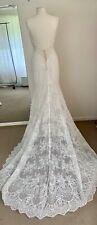 Wedding Dress Ivory Lace Beading Boho Backless Size 10-12 Sample