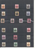Deutsche Besetzung WK I, Belgien 1914/1918,  Auswahl Einzelmarken, postfrisch **