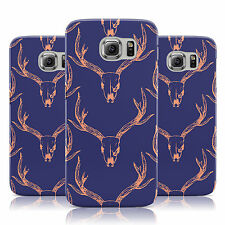 STAG HEAD CHIC TRENDY PATTERN BLUE CASE COVER FOR SAMSUNG GALAXY MOBILE PHONES