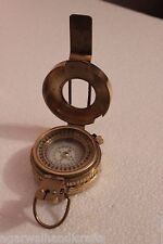 """2.25"""" Military British Prismatic Compass Antique Solid Brass Vintage Finish"""