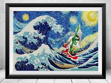 Zelda Starry Night Print Legend of Zelda Art Print Zelda Poster Zelda Wall Art
