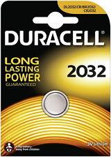4 x Duracell Lithium DL2032 CR2032 , 4 x 1er Blister, bis 2025
